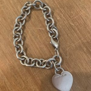 tiffany and co heart tag charm bracelet